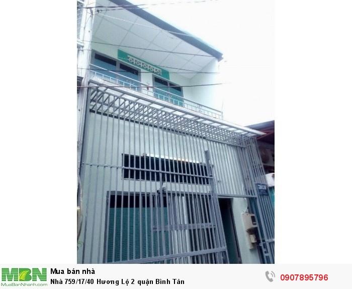 Nhà 759/17/40 Hương Lộ 2 quận Bình Tân