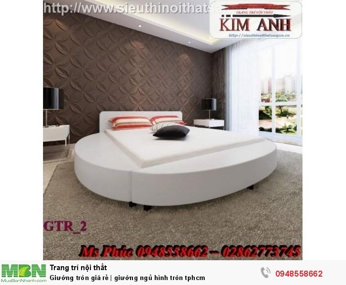 Mẫu giường tròn công chúa đẹp giá rẻ, sx & lắp đặt theo kích thước TPHCM1