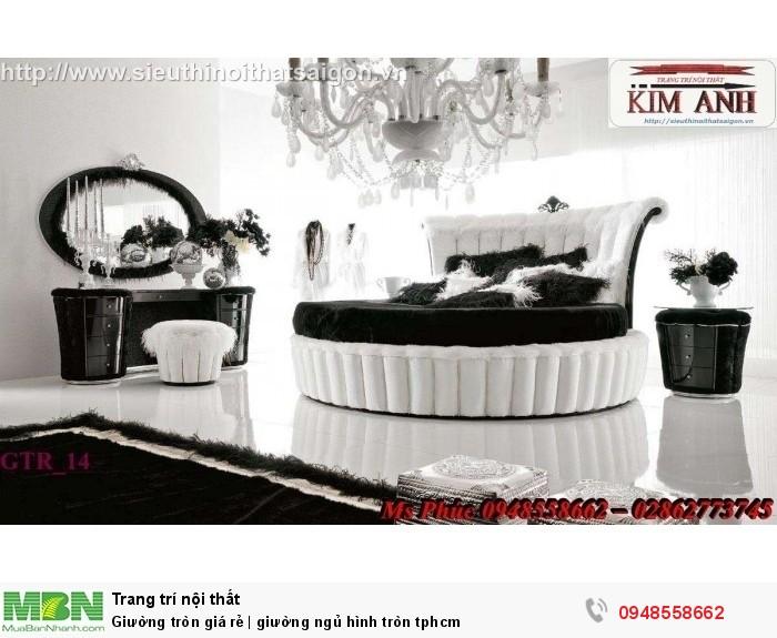 Mẫu giường tròn công chúa đẹp giá rẻ, sx & lắp đặt theo kích thước TPHCM2