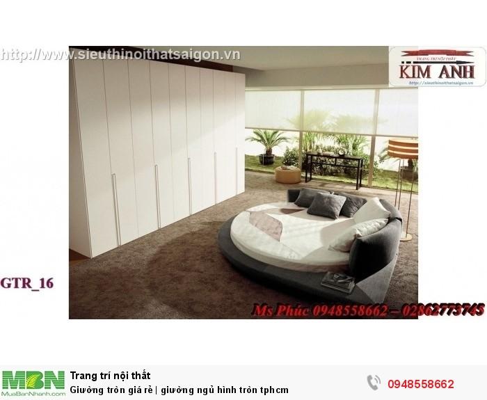 Mẫu giường tròn công chúa đẹp giá rẻ, sx & lắp đặt theo kích thước TPHCM3