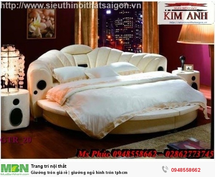 Mẫu giường tròn công chúa đẹp giá rẻ, sx & lắp đặt theo kích thước TPHCM5