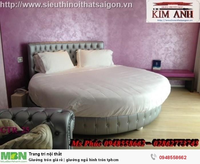 Mẫu giường tròn công chúa đẹp giá rẻ, sx & lắp đặt theo kích thước TPHCM7