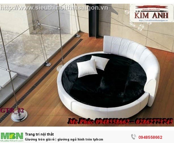 Mẫu giường tròn công chúa đẹp giá rẻ, sx & lắp đặt theo kích thước TPHCM9