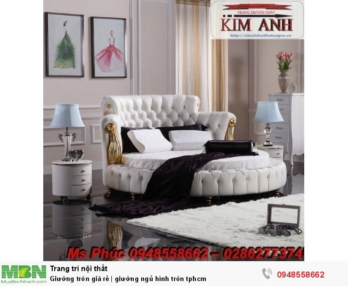Mẫu giường tròn công chúa đẹp giá rẻ, sx & lắp đặt theo kích thước TPHCM10