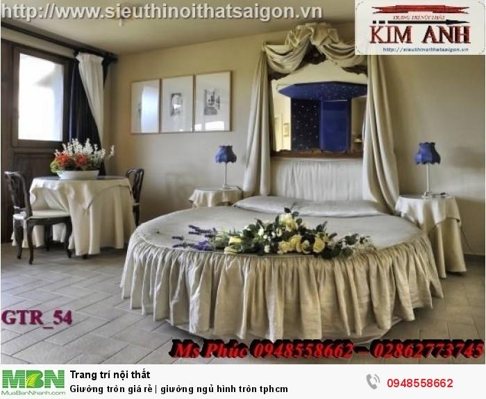 Mẫu giường tròn công chúa đẹp giá rẻ, sx & lắp đặt theo kích thước TPHCM11