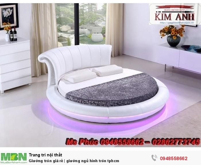 Mẫu giường tròn công chúa đẹp giá rẻ, sx & lắp đặt theo kích thước TPHCM13
