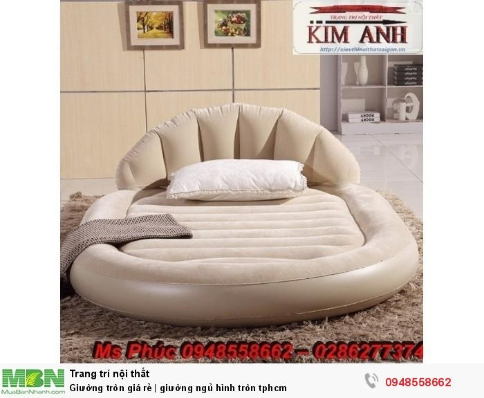 Mẫu giường tròn công chúa đẹp giá rẻ, sx & lắp đặt theo kích thước TPHCM15