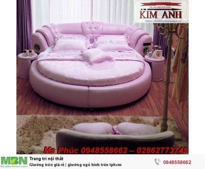 Mẫu giường tròn công chúa đẹp giá rẻ, sx & lắp đặt theo kích thước TPHCM16