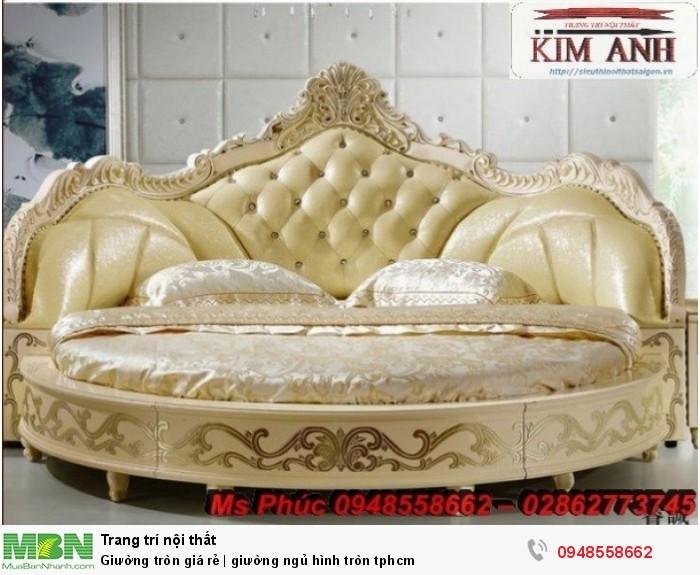 Mẫu giường tròn công chúa đẹp giá rẻ, sx & lắp đặt theo kích thước TPHCM17