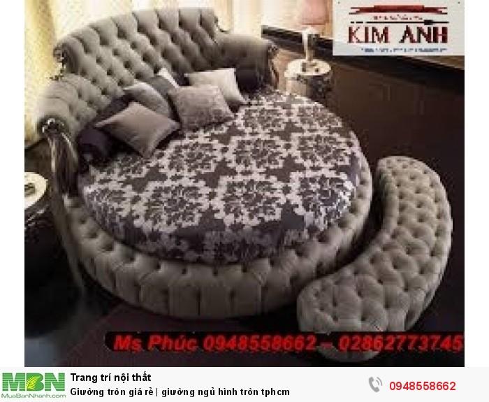 Mẫu giường tròn công chúa đẹp giá rẻ, sx & lắp đặt theo kích thước TPHCM19