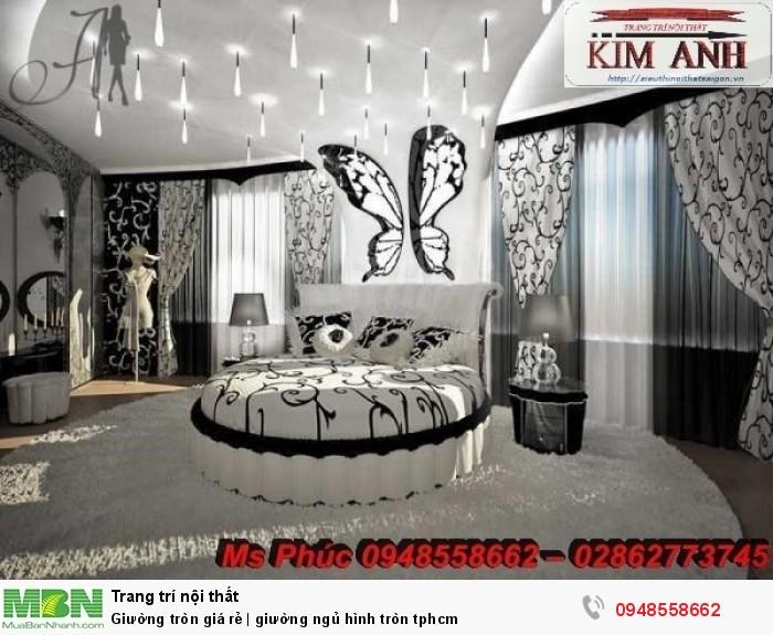 Mẫu giường tròn công chúa đẹp giá rẻ, sx & lắp đặt theo kích thước TPHCM25