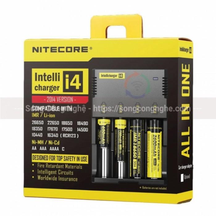 Bộ Sạc Pin Nitecore Intellicharger i4 v2 chính hãng