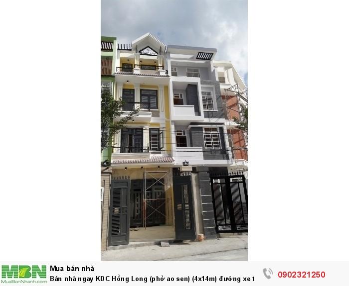 Bán nhà ngay KDC Hồng Long (phở ao sen) (4x14m) đường xe tải