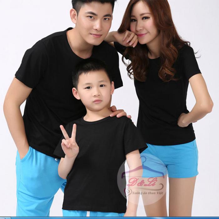 Áo thun đen cotton 4 chiều giá sỉ TPHCM9
