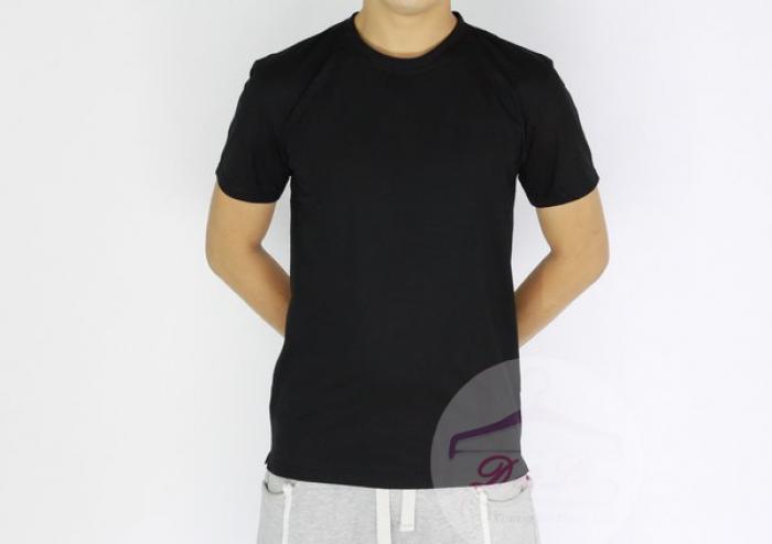 Áo thun đen cotton 4 chiều giá sỉ TPHCM11