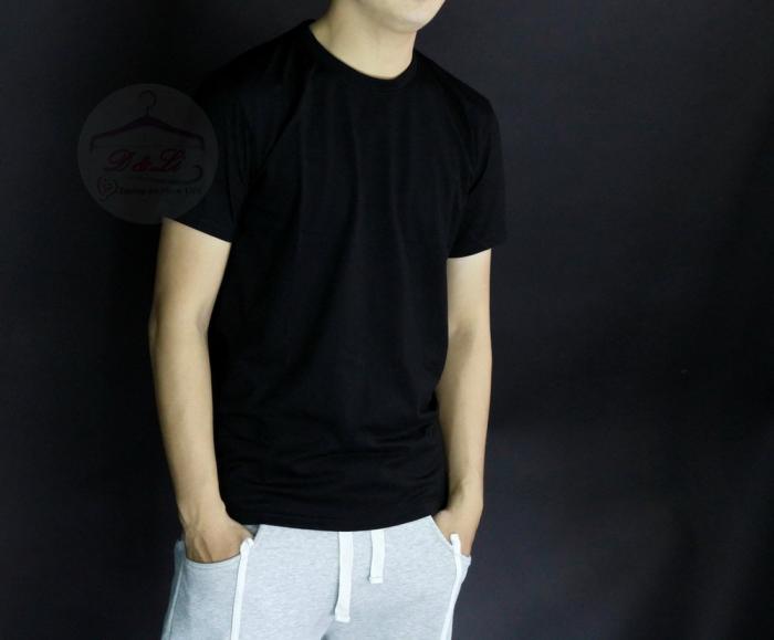 Áo thun đen cotton 4 chiều giá sỉ TPHCM6