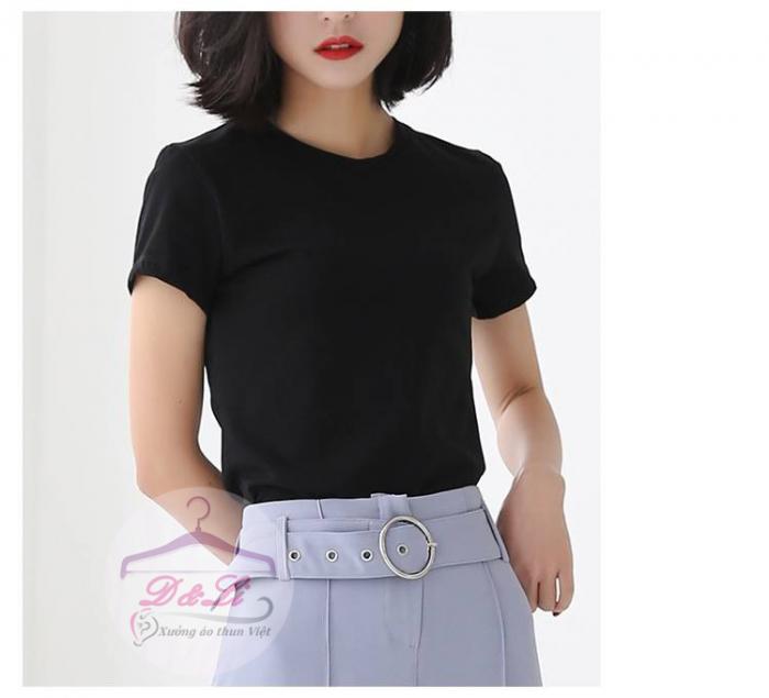 Áo thun đen cotton 4 chiều giá sỉ TPHCM10