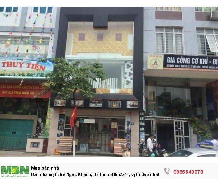 Bán nhà mặt phố Ngọc Khánh, Ba Đình, 40m2x4T, vị trí đẹp nhất phố, vỉa hè 5m, giá sốc