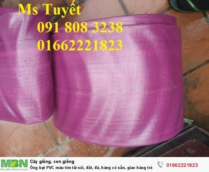 Ống bạt PVC màu tím tải sỏi, đất, đá, hàng có sẵn, giao hàng trên toàn quốc0