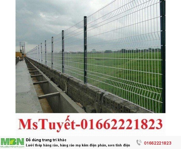 Lưới thép hàng rào, hàng rào mạ kẽm điện phân, sơn tĩnh điện0