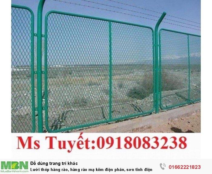 Lưới thép hàng rào, hàng rào mạ kẽm điện phân, sơn tĩnh điện1