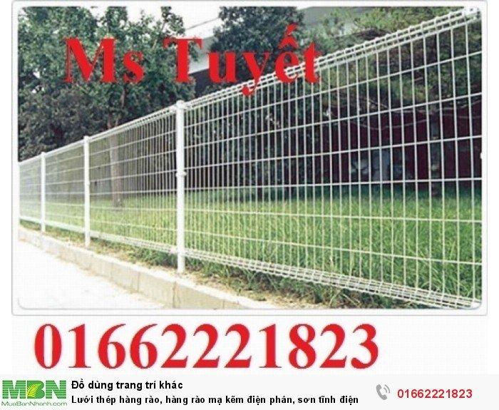 Lưới thép hàng rào, hàng rào mạ kẽm điện phân, sơn tĩnh điện2