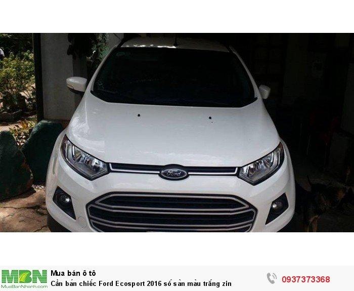 Cần bán chiếc Ford Ecosport 2016 số sàn màu trắng zin 3