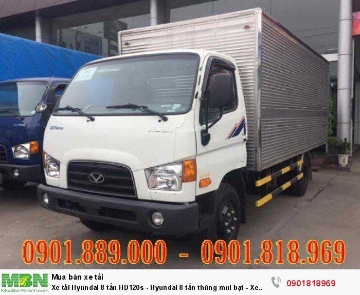 Xe tải Hyundai 8 tấn HD120s thùng kín