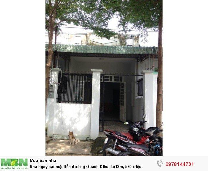 Nhà ngay sát mặt tiền đường Quách Điêu, 4x13m