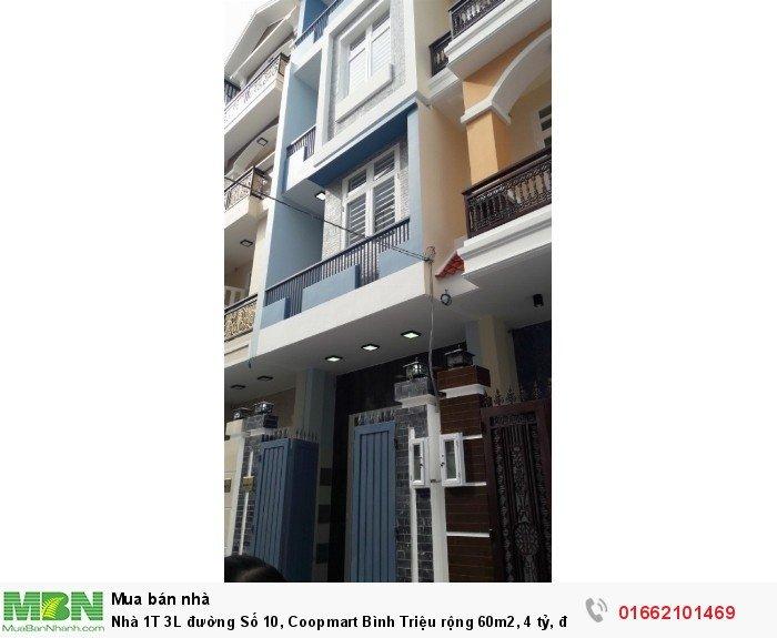 Nhà 1T 3L đường Số 10, Coopmart Bình Triệu rộng 60m2, đường 16m vỉa hè