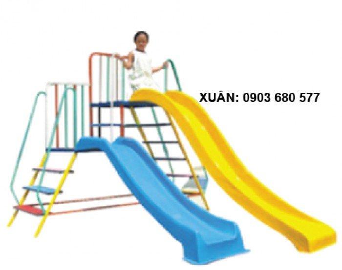 Cầu trượt liên hoàn và đồ chơi mầm non8