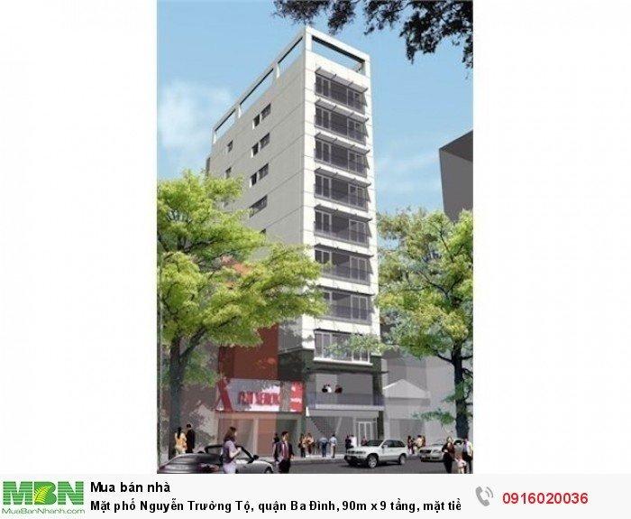 Mặt phố Nguyễn Trường Tộ, quận Ba Đình, 90m x 9 tầng, mặt tiền 5m, đông vui tấp nập!!!