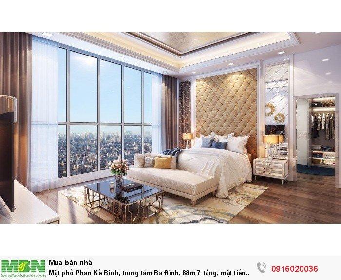 Mặt phố Phan Kế Bính, trung tâm Ba Đình, 88m 7 tầng, mặt tiền trên 5m, ở sướng tiền thu đều!!!
