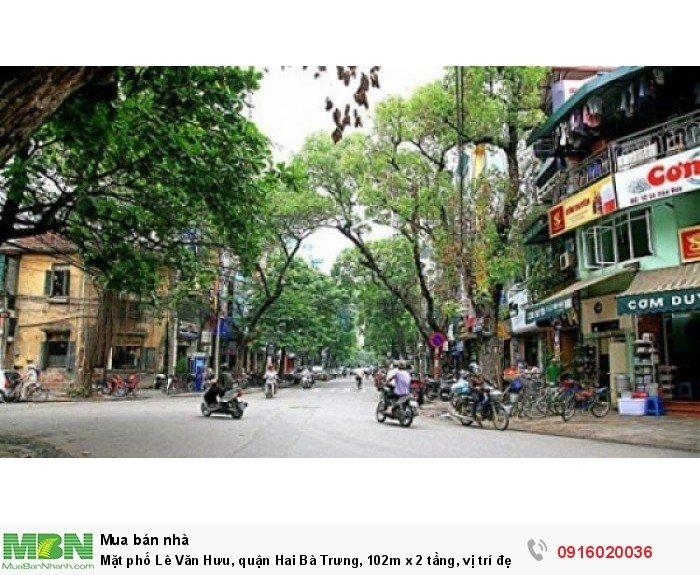 Mặt phố Lê Văn Hưu, quận Hai Bà Trưng, 102m x 2 tầng, vị trí đẹp nhất phố, nhất quận!!!