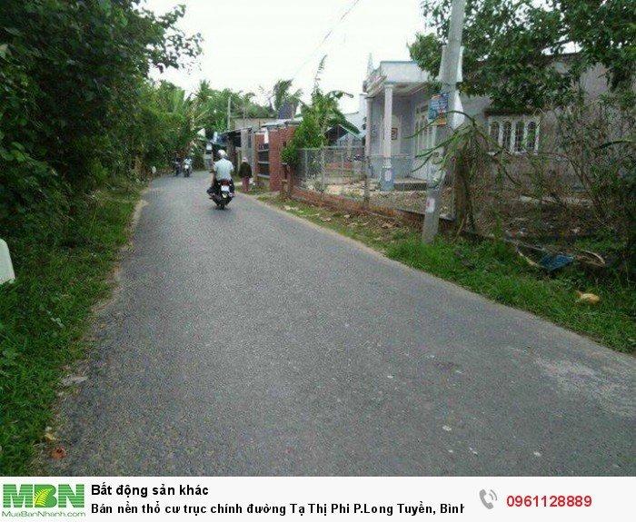 Bán nền thổ cư trục chính đường Tạ Thị Phi P.Long Tuyền, Bình Thủy, Cần Thơ
