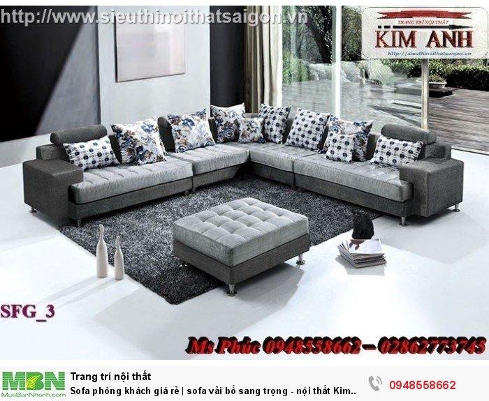 Sofa phòng khách giá rẻ | sofa vải bố sang trọng - nội thất Kim Anh sài gòn3
