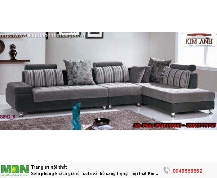 Sofa phòng khách giá rẻ | sofa vải bố sang trọng - nội thất Kim Anh sài gòn4