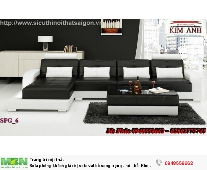 Sofa phòng khách giá rẻ | sofa vải bố sang trọng - nội thất Kim Anh sài gòn5