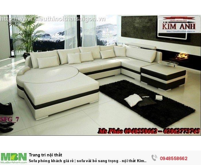 Sofa phòng khách giá rẻ | sofa vải bố sang trọng - nội thất Kim Anh sài gòn6