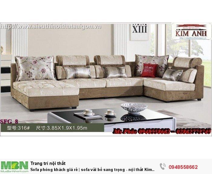 Sofa phòng khách giá rẻ | sofa vải bố sang trọng - nội thất Kim Anh sài gòn7