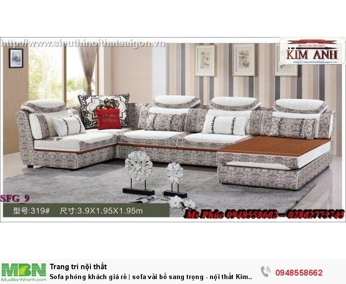 Sofa phòng khách giá rẻ | sofa vải bố sang trọng - nội thất Kim Anh sài gòn8