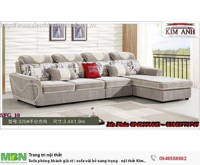 Sofa phòng khách giá rẻ | sofa vải bố sang trọng - nội thất Kim Anh sài gòn9