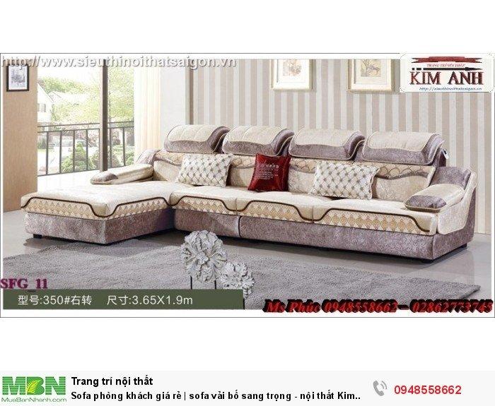 Sofa phòng khách giá rẻ | sofa vải bố sang trọng - nội thất Kim Anh sài gòn10