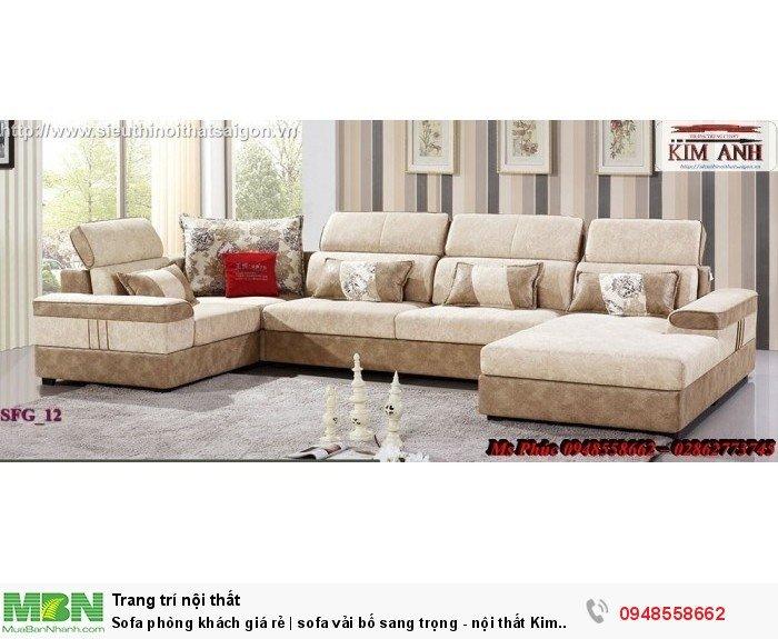 Sofa phòng khách giá rẻ | sofa vải bố sang trọng - nội thất Kim Anh sài gòn11