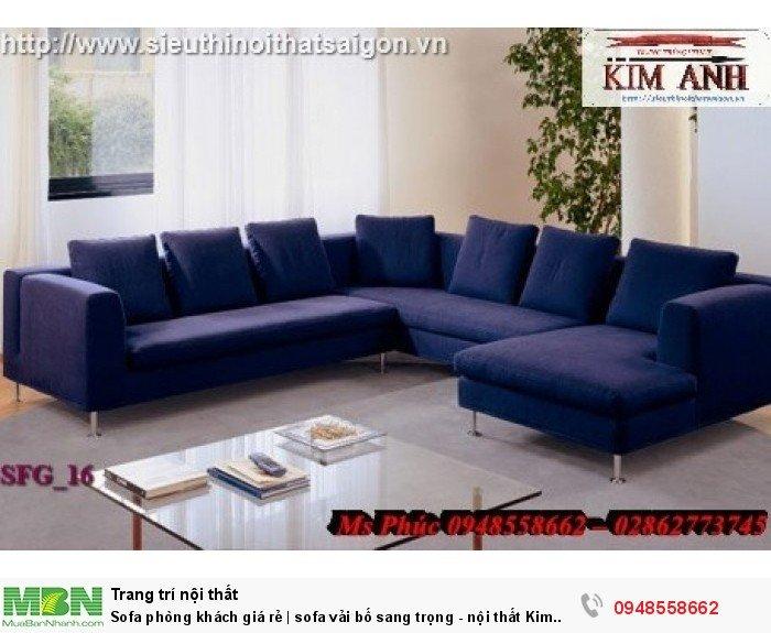 Sofa phòng khách giá rẻ | sofa vải bố sang trọng - nội thất Kim Anh sài gòn12