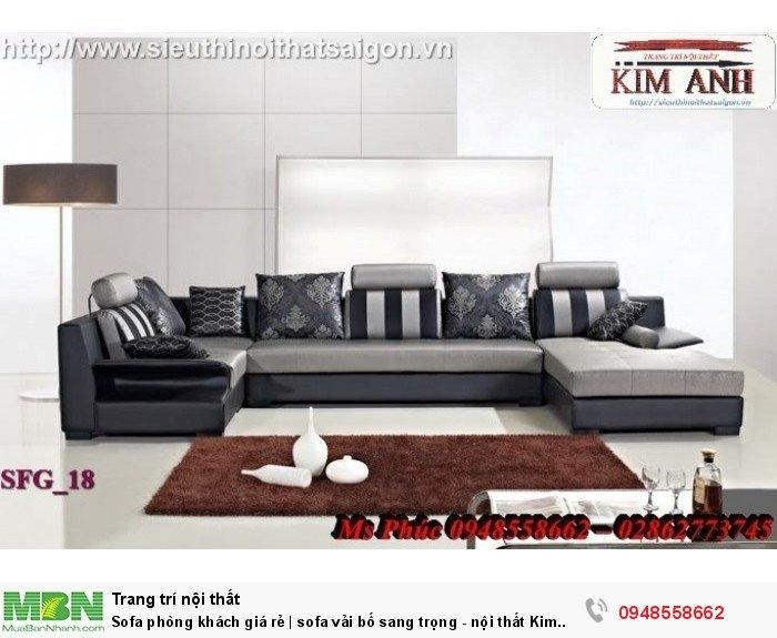 Sofa phòng khách giá rẻ | sofa vải bố sang trọng - nội thất Kim Anh sài gòn13
