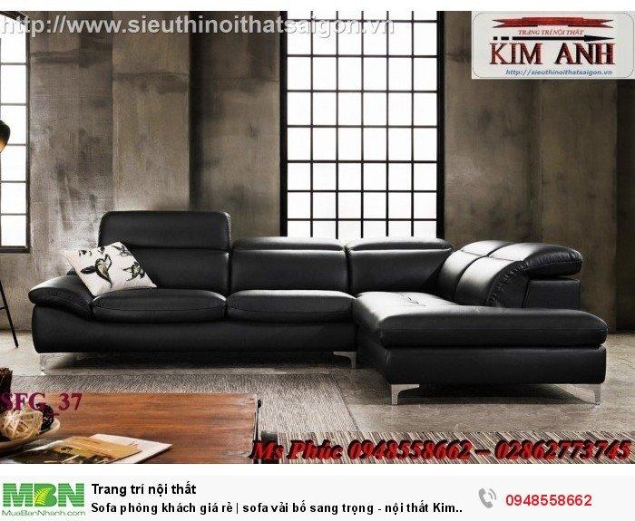 Sofa phòng khách giá rẻ | sofa vải bố sang trọng - nội thất Kim Anh sài gòn15