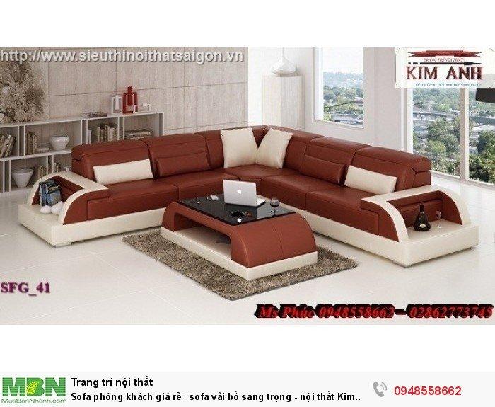 Sofa phòng khách giá rẻ | sofa vải bố sang trọng - nội thất Kim Anh sài gòn16