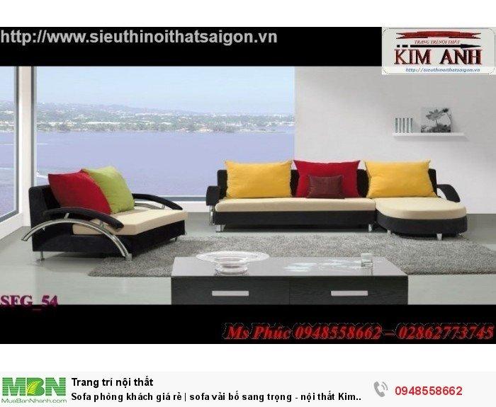 Sofa phòng khách giá rẻ | sofa vải bố sang trọng - nội thất Kim Anh sài gòn17