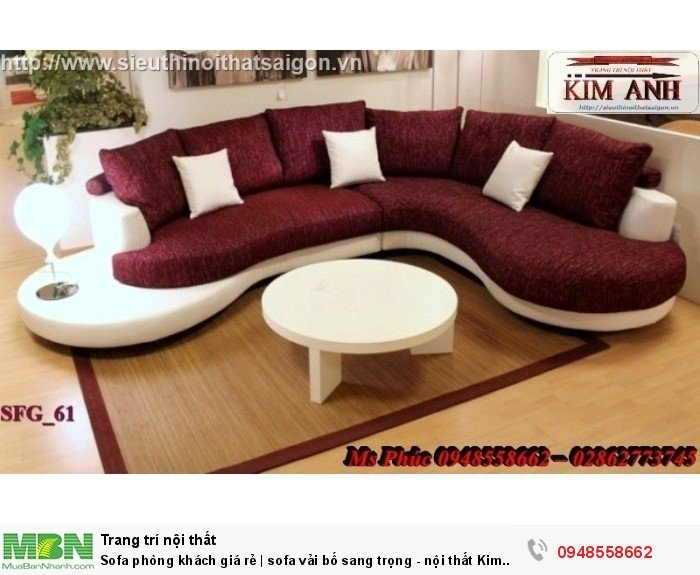 Sofa phòng khách giá rẻ | sofa vải bố sang trọng - nội thất Kim Anh sài gòn18